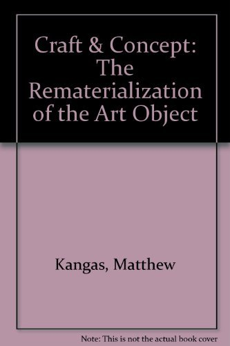 9781877675584: Craft & Concept: The Rematerialization of the Art Object
