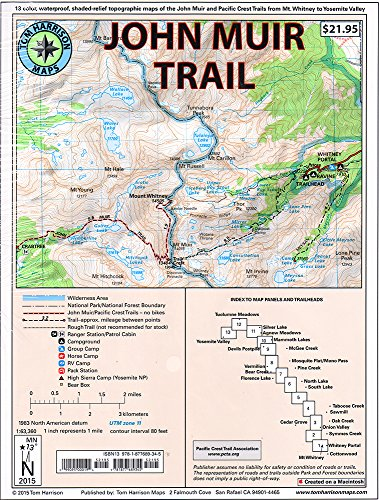 9781877689345: John Muir Trail Map-Pack: Shaded Relief Topo Maps (Tom Harrison Maps)