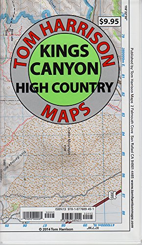 9781877689451: Kings Canyon High Country Trail Map (Tom Harrison Maps)
