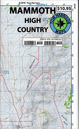 9781877689567: Mammoth high country trail map: Waterproof, tearproof (Tom Harrison Maps)