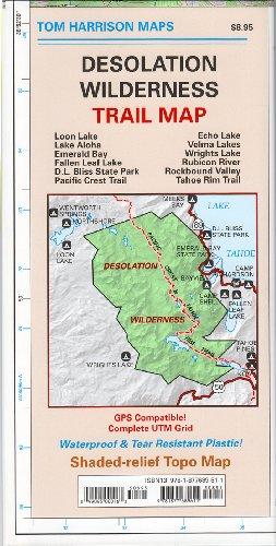 Desolation Wilderness Trail Map Waterproof By Tom Harrison Maps - Tom tom us maps