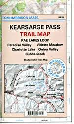 9781877689840: Kearsarge Pass Trail Map (Tom Harrison Maps)