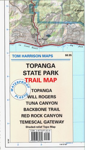 Topanga State Park Trail Map: Topanga, Will Rogers, Tuna Canyon, Backbone Trail, Red Rock Canyon, ...