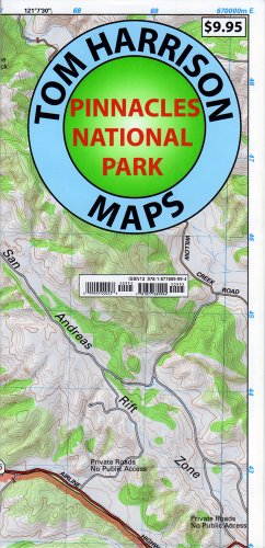 9781877689994: Pinnacles National Monument Trails Map (Tom Harrison Maps)