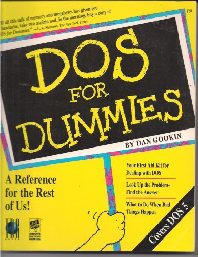 DOS for Dummies (1878058258) by Dan Gookin