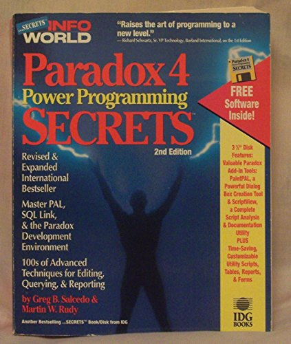 9781878058546: Paradox 4 Power Programming Secrets (Infoworld Power Programming Secrets Series)