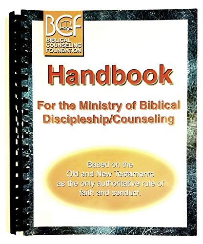 9781878114075: Handbook For the Ministry of Biblical Discipleship/Counseling