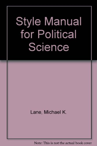 9781878147097: Style Manual for Political Science