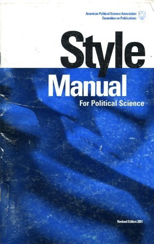 9781878147332: Style Manual for Political Science (Revised Ed.)