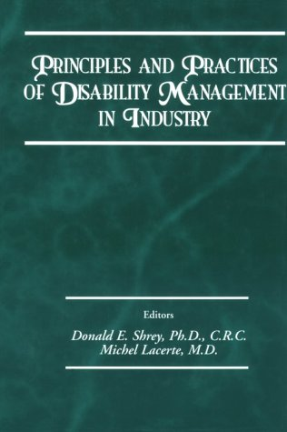 Principles and Practices of Disability Management in: Shrey