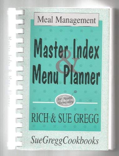 9781878272171: MASTER INDEX MENU PLANNER