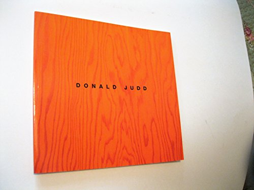 9781878283467: Donald Judd: Sculpture/Catalogue