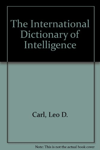 9781878292049: The International Dictionary of Intelligence