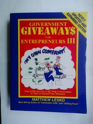 9781878346391: Government Giveaways for Entrepreneurs III