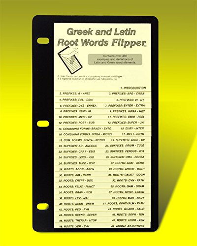 9781878383396: Greek 2 Latin Root Words Flipper