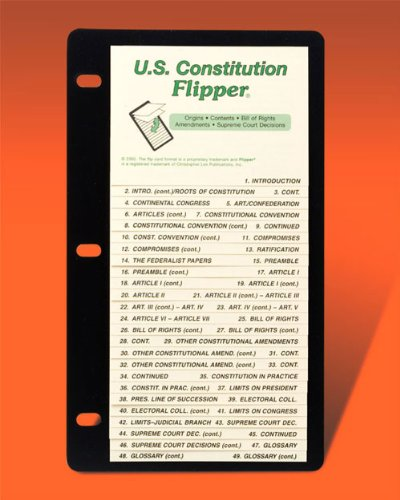 The Flippers 299W U.S. Constitution Flip-Up Guide - For Grades 7-Adult: n/a