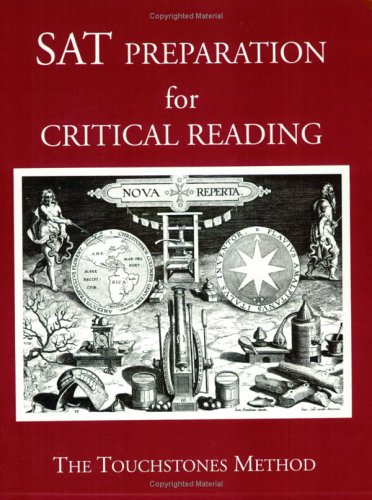9781878461322: SAT Preparation for Critical Reading (The Touchstones Method)