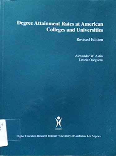 9781878477293: Degree attainment rates at American colleges and universities