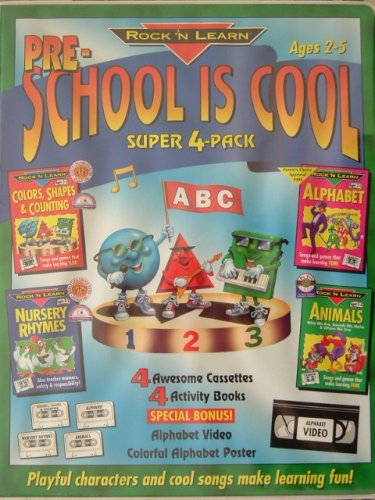 vintage rock n learn cassette book letter sounds 9781878489852 rock n learn pre school is cool ages 2 5 192