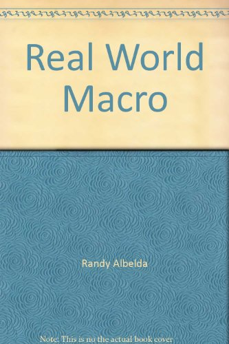 9781878585394: Real World Macro