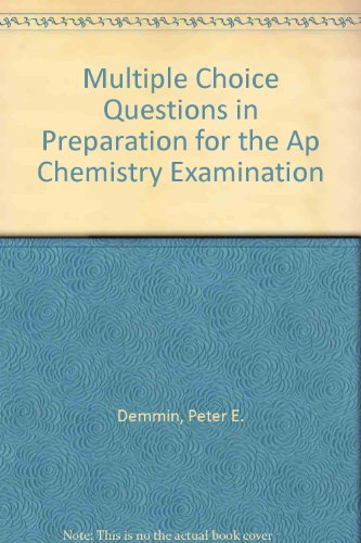 9781878621399: Multiple Choice Questions in Preparation for the Ap Chemistry Examination