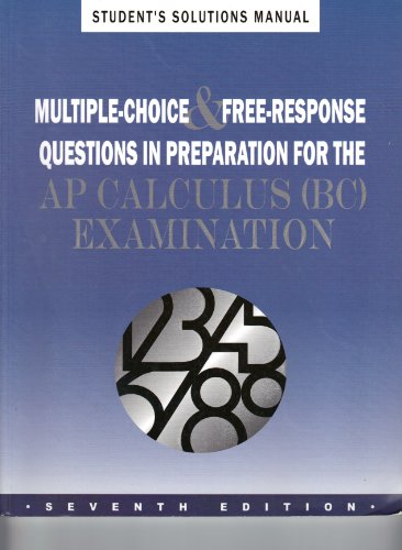 9781878621993: Solutions Manual for Ap Prep Book for Bc Calculus