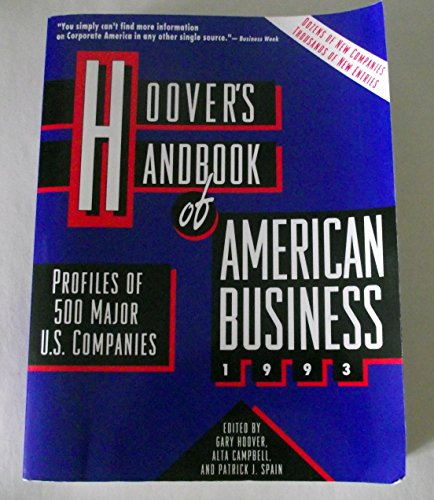 9781878753038: Hoover's Handbook of American Business: 1993