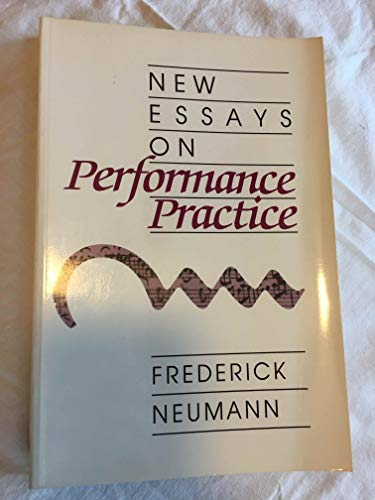 9781878822130: New Essays on Performance Practice