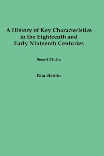 9781878822628: A History of Key Characteristics in the Eighteenth and Early Nineteenth Centuries