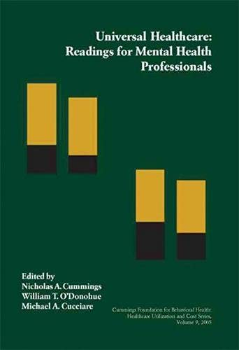 Universal Healthcare: Readings for Mental Health Professionals: Context Press
