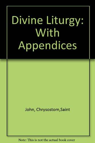 9781878997173: Divine Liturgy: With Appendices