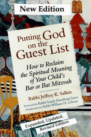 9781879045590: Putting God on the Guest List: How to Reclaim the Spiritual Meaning of Your Child's Bar or Bat Mitzvah