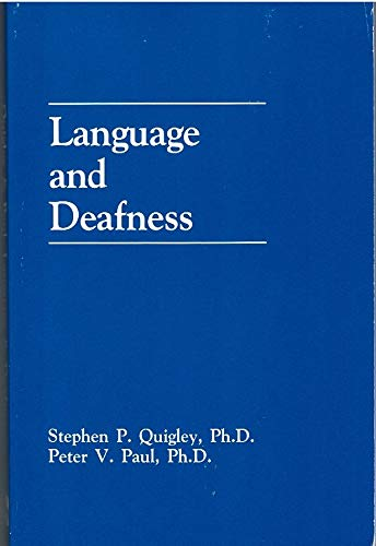 9781879105010: Language and Deafness