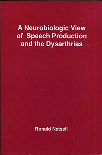 9781879105256: A Neurobiologic View of Speech Production and the Dysarthrias