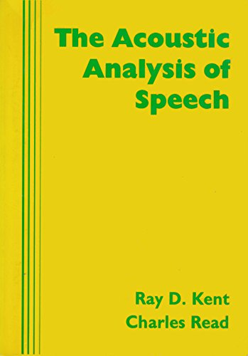 9781879105430: The Acoustic Analysis of Speech