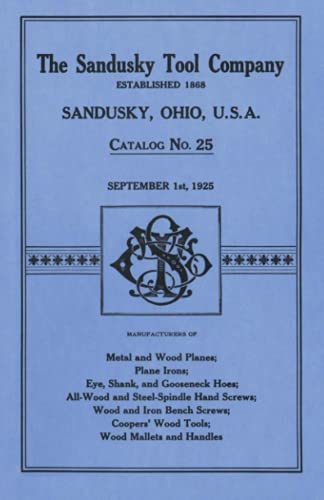 9781879335264: Sandusky Tool Co. 1925 Catalog: Catalog No. 25, September 1st, 1925