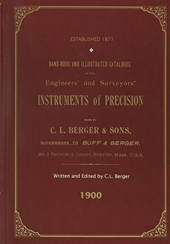 Handbook And Illustrated Catalogue of the Engineers': Berger, C L
