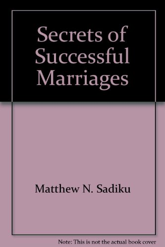 9781879420014: Secrets of successful marriages
