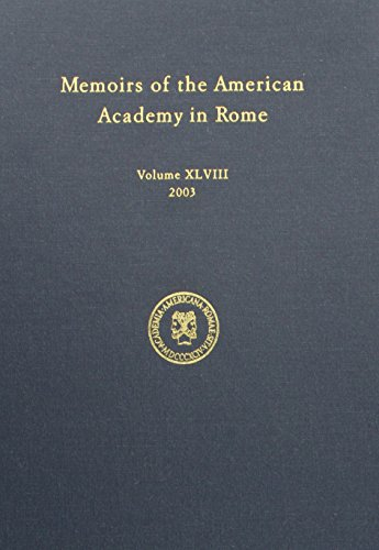 Memoirs of the American Academy in Rome, Vol. 48 (2003): Corbeill, Anthony