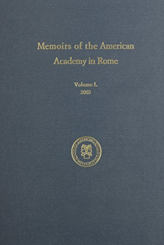 9781879549135: Memoirs of the American Academy in Rome v. 50