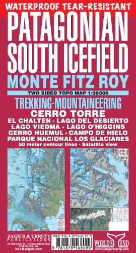 9781879568099: Patagonian South Icefield Map: Trekking & Mountaineering in Monte Fitz Roy & Cerro Torre