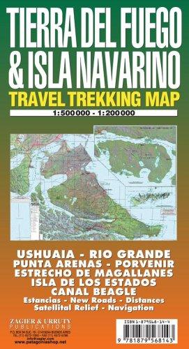 9781879568143: Tierra del Fuego e Isla Navarino 1:500.000. Mapa de carreteras. Zagier.