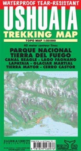 9781879568976: Ushuaia Trekking Map: Parque Nacional Tierra Del Fuego, Ushuaia, Lapataia, Beagle Channel