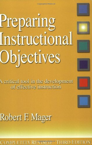 9781879618039: Preparing Instructional Objectives: A Critical Tool in the Development of Effective Instruction
