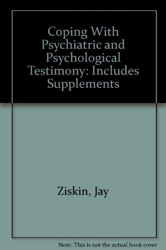 9781879689046: Coping With Psychiatric and Psychological Testimony: Includes Supplements