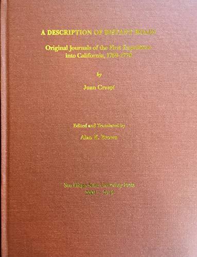 A description of distant roads: Original journals: Juan Crespí