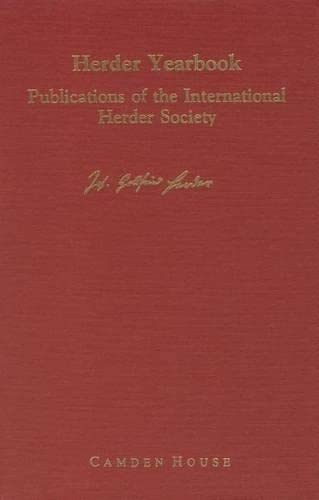 9781879751224: Herder Yearbook Vol. 1 (Studies in German Literature Linguistics and Culture) (Vol 1)