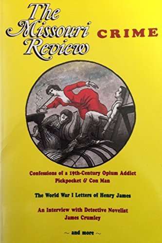The Missouri Review : Crime (Volume XVI, Number 2): Morgan, Speer (editor)