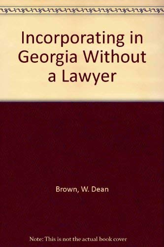 9781879760011: Incorporating in Georgia Without a Lawyer