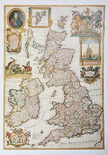 9781879856448: Willdey's British Isles Wall Map reproduction, circa 1715 (Wychwood Antique Reproduction Maps)